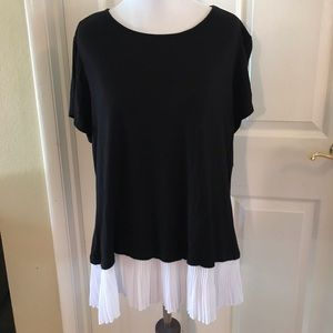 Crinkle Layered Top